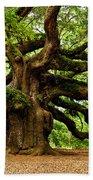 Mystical Angel Oak Tree Beach Towel by Louis Dallara