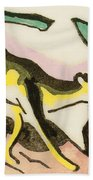 Mythical Animal  Beach Towel by Franz Marc