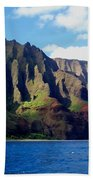 Na Pali Coast On Kauai Beach Towel