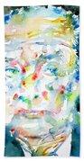 Nabokov Vladimir - Watercolor Portrait Beach Towel