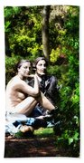 Naked Lunch Beach Towel
