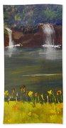 Nandroy Falls In Queensland Beach Towel