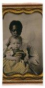 Nanny And Child, C1855 Beach Towel
