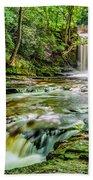 Nant Mill Waterfall Beach Towel