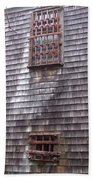 Nantucket Olde Gaol Windows Beach Towel