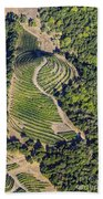 Napa Valley From Above Beach Towel
