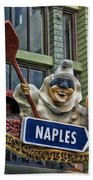 Naples Pizzeria Signage Downtown Disneyland Beach Towel