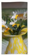 Narcissus In The Vase Beach Towel