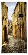 Narrow Street In Perigueux Beach Towel by Elena Elisseeva