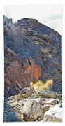 Narrowing Of Trail In Big Painted Canyon Trail In Mecca Hills-ca Beach Towel