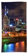 Nashville Is A Colorful Town Beach Towel