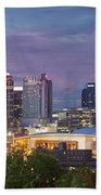 Nashville Skyline Beach Towel