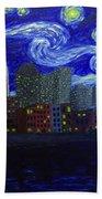 Dedication To Van Gogh Nashville Starry Nights Beach Towel