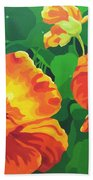 Nasturtiums Beach Towel