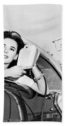Natalie Wood At A Drive-in Beach Towel