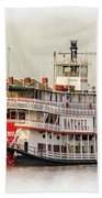 Natchez Sternwheeler Paint Beach Towel