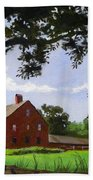 Nathan Hale Homestead Coventry Connecticut Beach Towel