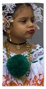 National Costume Of Panama Beach Towel