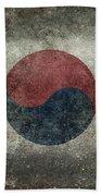 National Flag Of South Korea Desaturated Vintage Version Beach Towel