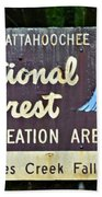 National Forest Recreation Area Beach Towel