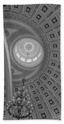 National Statuary Rotunda Bw Beach Towel