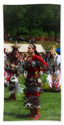 Native American Dancers Beach Towel