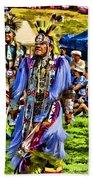 Native American Elder Beach Towel