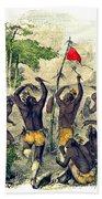 Native American Indian War Dance Beach Towel
