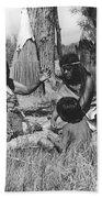 Native American Story Telling Beach Towel