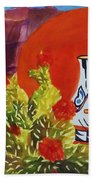 Native American Wedding Vase And Cactus Beach Towel