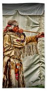 Native American With Blowgun Beach Towel