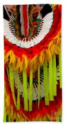 Native American Yellow Feathers Ceremonial Piece Beach Towel