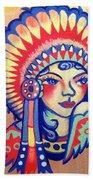 Native Girl Beach Towel