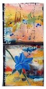 native Texas wildflowers B Beach Towel by Michael Dillon