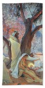 Nativity Beach Towel by Frederic Montenard