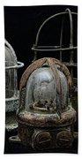 Natuical - Vintage Ship Deck Lights Beach Towel