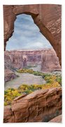 Natural Arch And River Valley Canyon De Beach Towel