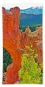 Natural Bridge In Bryce Canyon National Park-utah  Beach Towel
