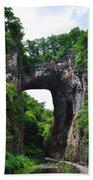 Natural Bridge In Rockbridge County Virginia Beach Towel