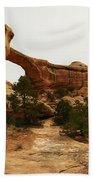 Natural Bridge Southern Utah Beach Towel by Jeff Swan