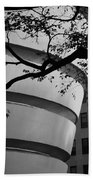 Nature And Architecture In Black And White Beach Towel