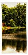 Nature Center Salt Creek In August Beach Towel