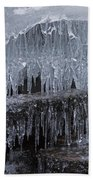 Natures Frozen Cathedral Sculpture Beach Towel