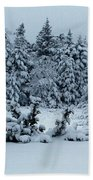 Natures Handywork - Snowstorm - Snow - Trees Beach Towel