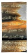 Natures Melody With Text Beach Towel