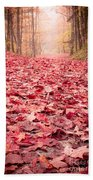 Nature's Red Carpet Revisited Beach Towel