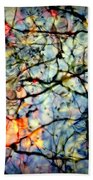 Natures Stained Glass Beach Towel by Karen Wiles