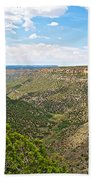 Navajo Canyon Overlook On Chapin Mesa Top Loop Road In Mesa Verde National Park-colorado Beach Towel
