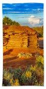 Navajo Hogan Canyon Dechelly Nps Beach Towel
