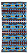 Navajo Blue Pattern Beach Towel